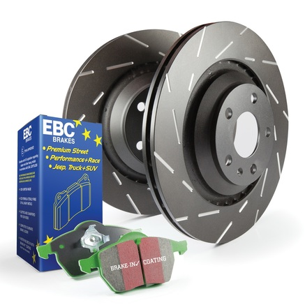 EBC Brakes S2 Greentuff 2000 and USR Rotors Kit