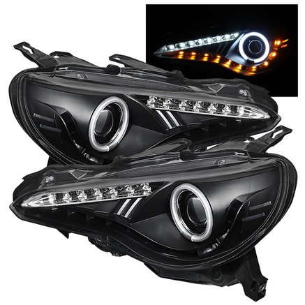 Spyder CCFL Halo DRL LED Projector Headlights