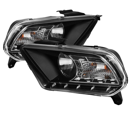 Spyder DRL LED Crystal Headlights