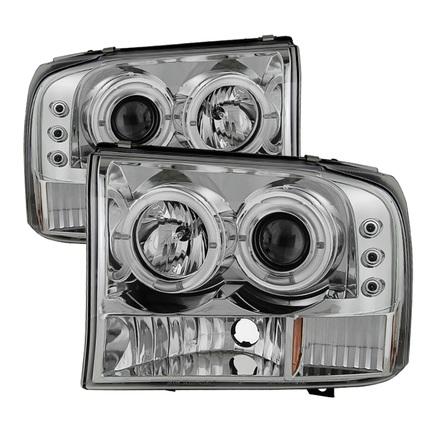 Spyder Dual Halo LED Projector Headlights
