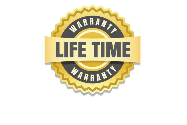 Manufacturer's limited lifetime warranty