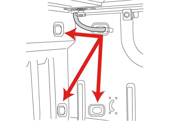 Integrated drain channels