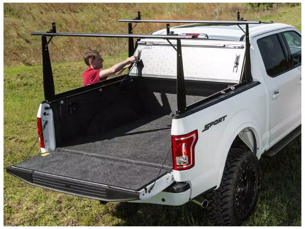 Tonneau cover and integrated rack