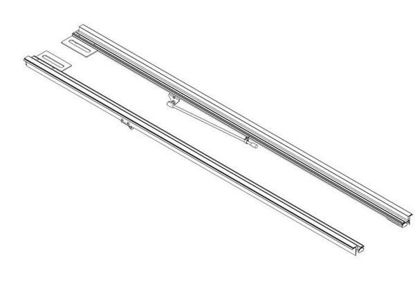 Aircraft-grade aluminum rails