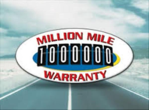 One-million mile warranty