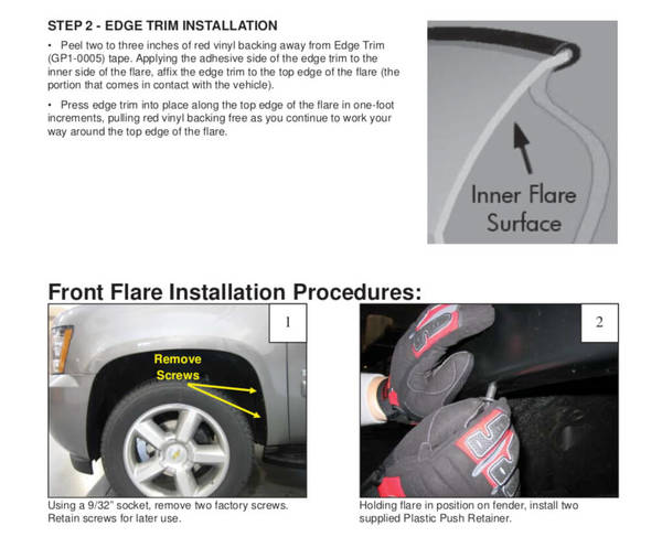 Step-by-step installation instructions included