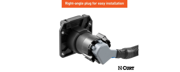 Easy installation with right-angle plug
