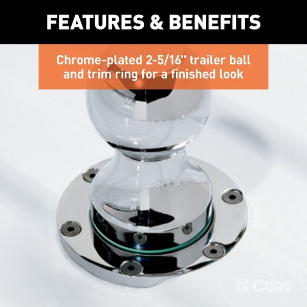 Removable Chrome-Plated Ball