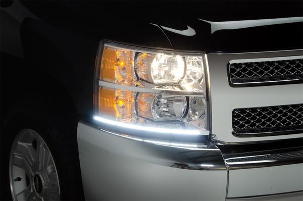 Black or chrome trim