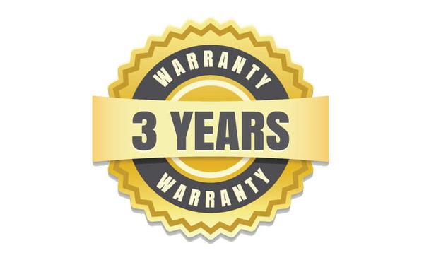 3 year full warranty