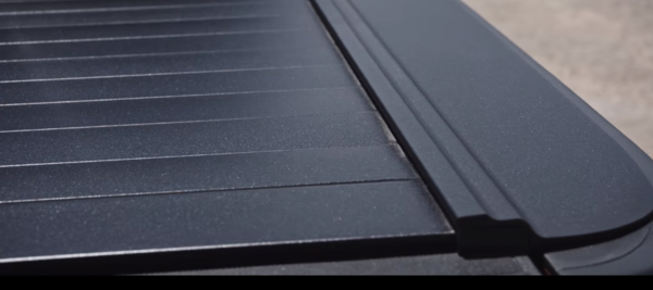 Textured matte black finish