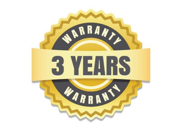 Three years limited warranty