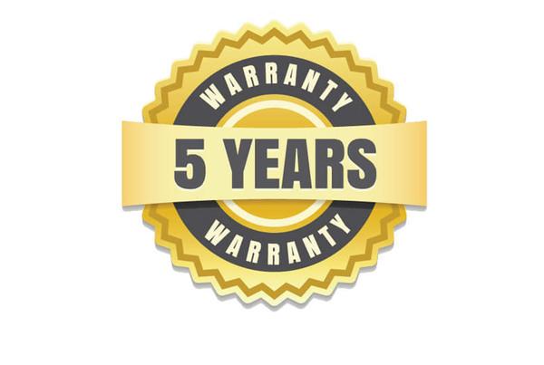Five-year warranty