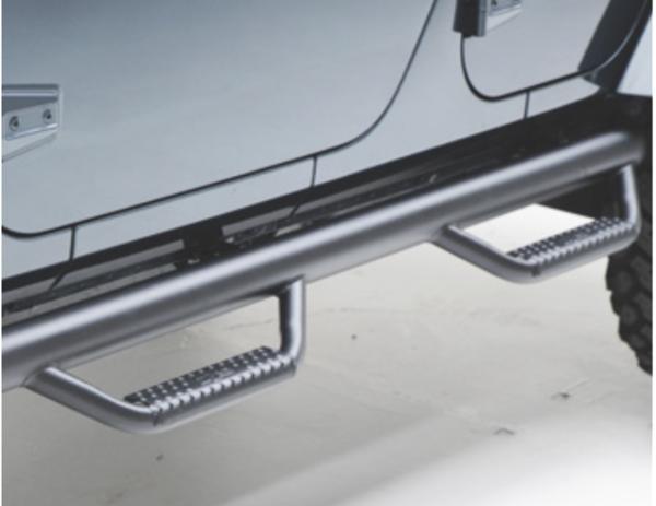 Wheel-to-wheel step bars