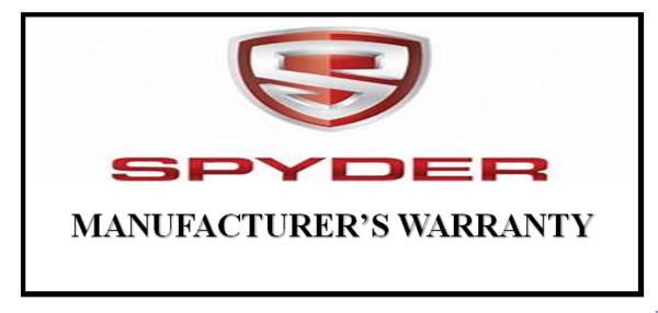 Manufacturer's warranty