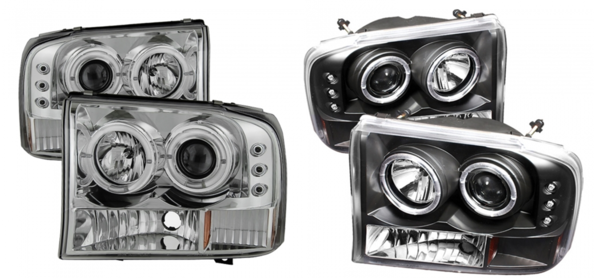 Black and clear housing