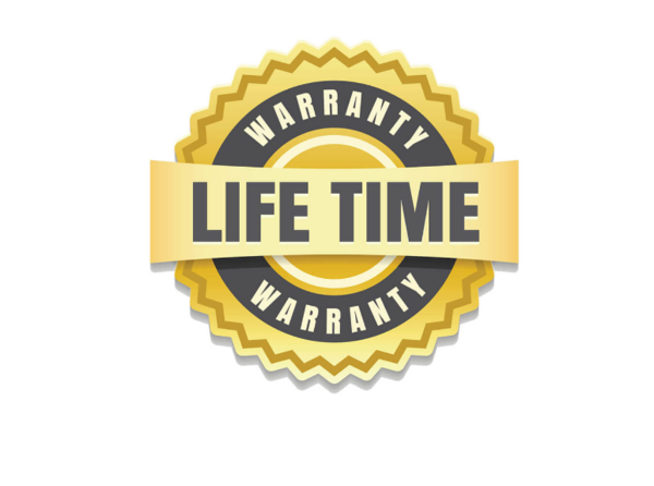 Limited lifetime warranty and 3-year warranty of finish