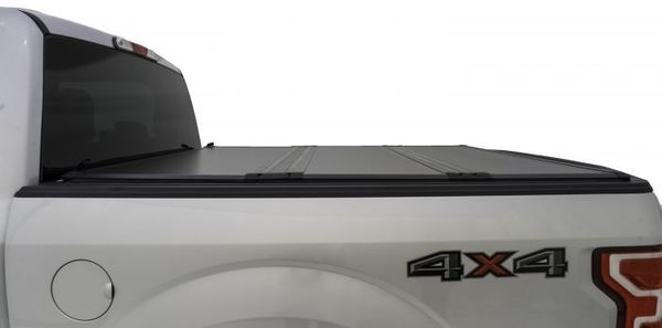 Tonneau cover lies flat and is secure