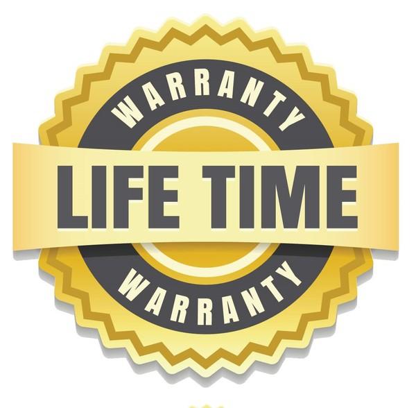 Manufacturer's lifetime warranty