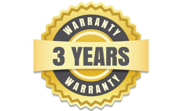 3-year manufacturer's warranty