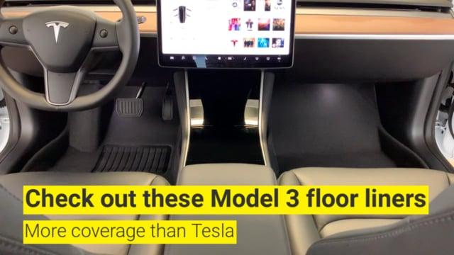 Tesla Model 3 2018-2019 - MAXpider Rubber Floor Mats [Covers Front & Rear,  Black] MAX229678