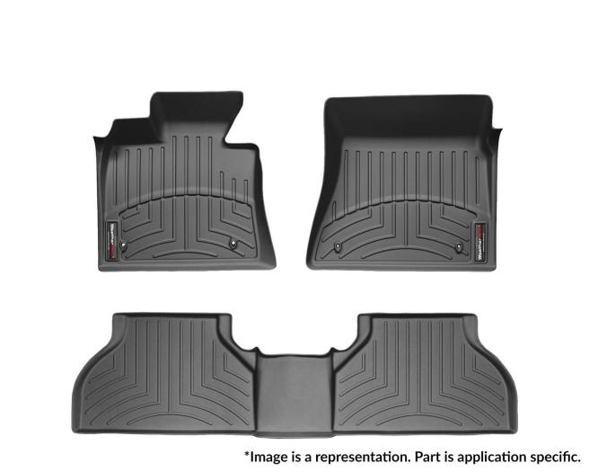 WeatherTech DigitalFit Floor Mats for Mercedes-Benz [Covers Front & Rear, Black] (WEA95270)
