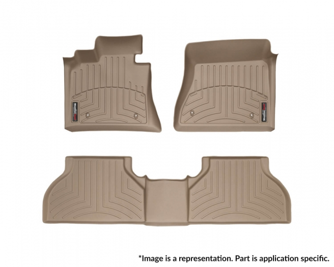 WeatherTech DigitalFit Floor Mats for Dakota/Raider [Covers Front & Rear, Tan] (WEA95813)