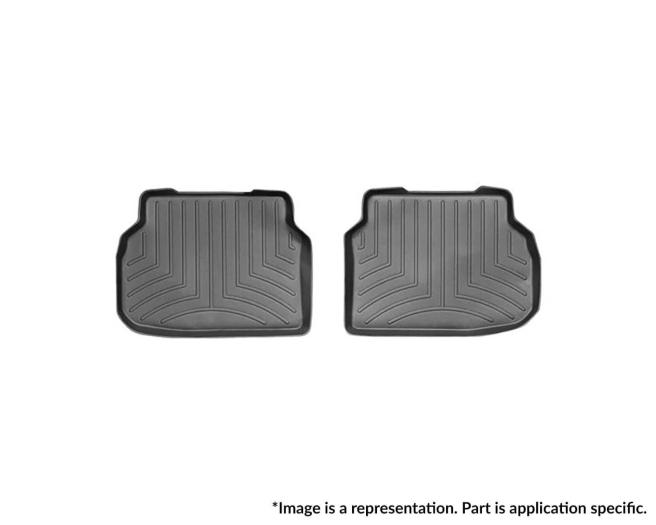 WeatherTech DigitalFit Floor Mats for Equus/K900 [Covers Rear, Black] (WEA94807)