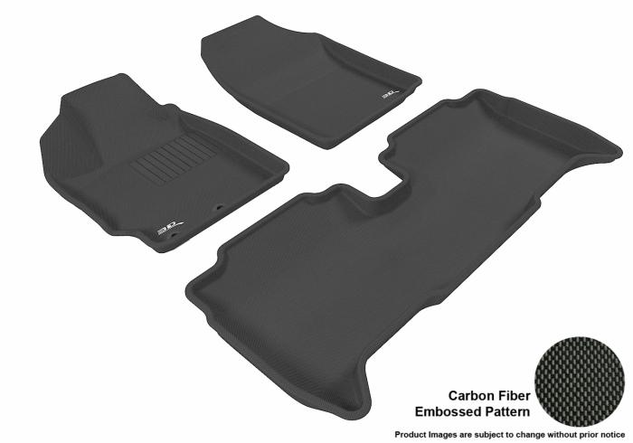 Floor Mats Liner 3D Molded Black Set For Scion xD 2008-2012