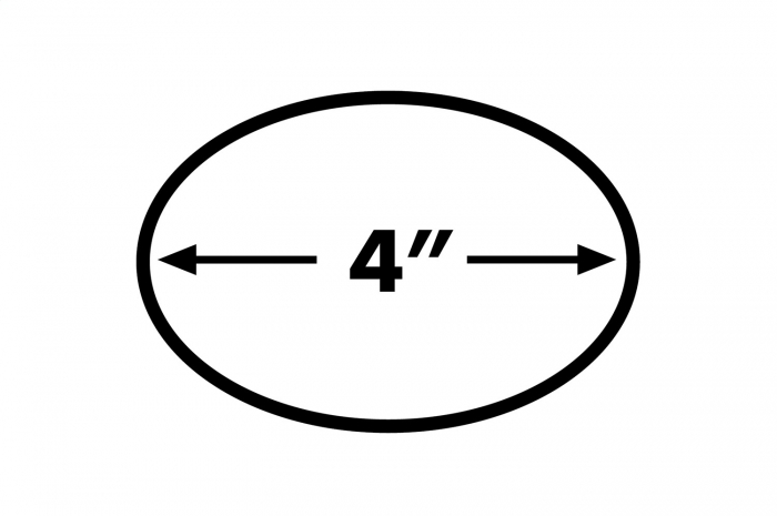 4 inch oval diagram