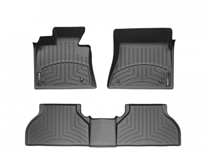 WeatherTech DigitalFit Floor Mats for Mercedes-Benz [Covers Front & Rear, Black] (WEA95194)