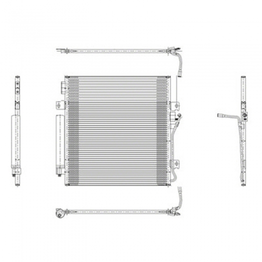 A/C Condenser for 2008-2012 Jeep Liberty CND3683