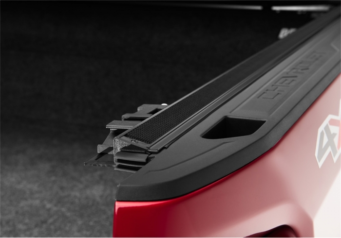 Close up of truck bed rails