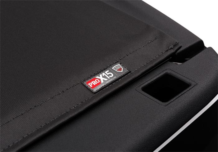 Close up of Pro X15 badge