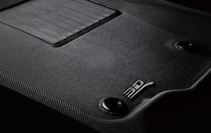 Carbon fiber embossed print