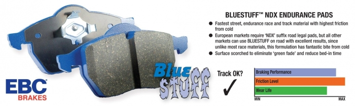 EBC Brakes Bluestuff NDX Full Race Brake Pads