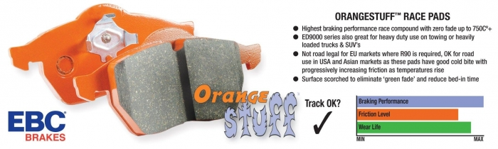 EBC Brakes Orangestuff 9000 Series Race Brake Pads