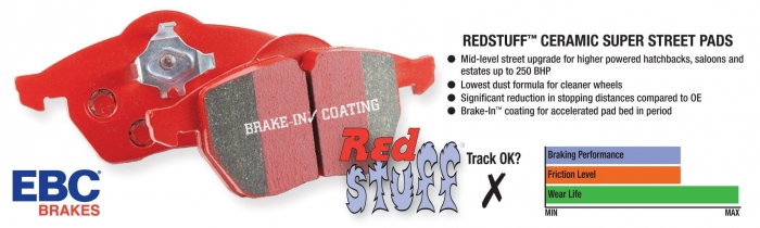 EBC Brakes Redstuff Ceramic Low Dust Brake Pads