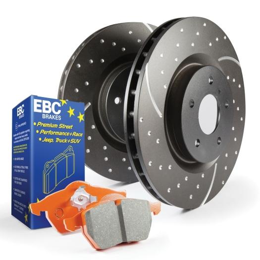 EBC Brakes S8 Orangestuff and GD Rotors Kit