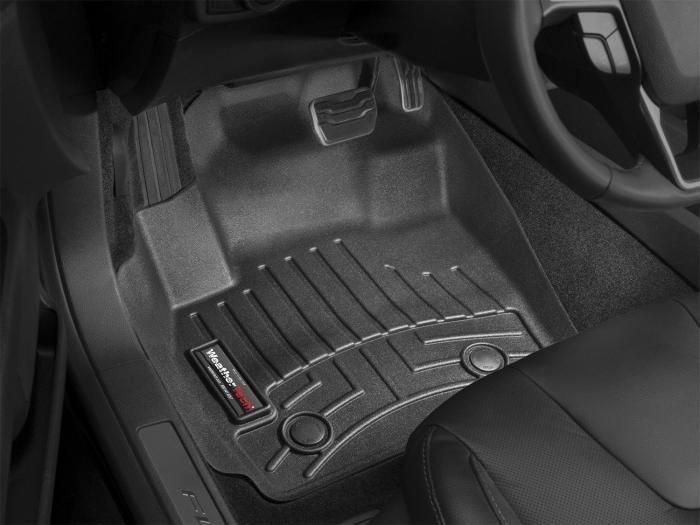WeatherTech DigitalFit Floor Mats for Malibu/Malibu Limited [Covers Front & Rear, Black] (WEA95324)
