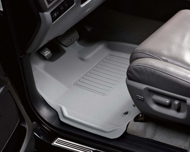 MAXpider Rubber Floor Mats for 12-15 Land Rover Range Rover Evoque [Covers 1st Row, Gray] L1LR00611501