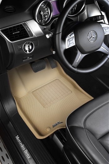 MAXpider Rubber Floor Mats for 12-15 Land Rover Range Rover Evoque [Covers 1st Row, Tan] L1LR00611502