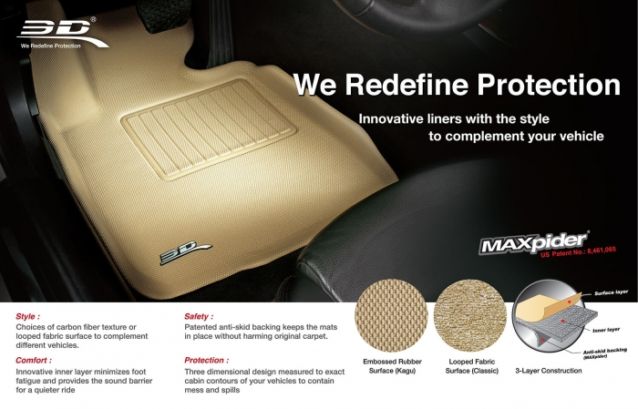 MAXpider Rubber Floor Mats for 12-16 Land Rover Range Rover Evoque [Covers 2nd Row, Black] L1LR00621509