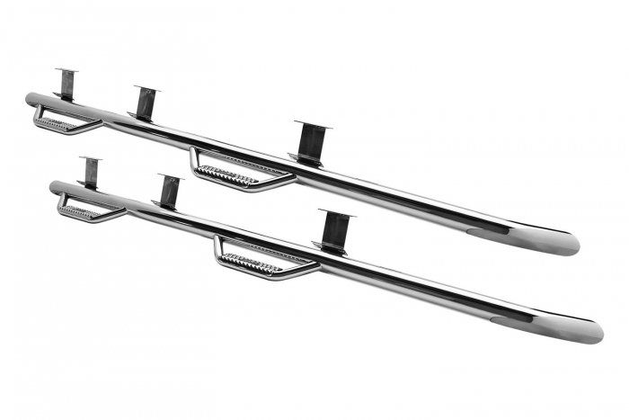 Polished stainless, sold as a pair (angle view)