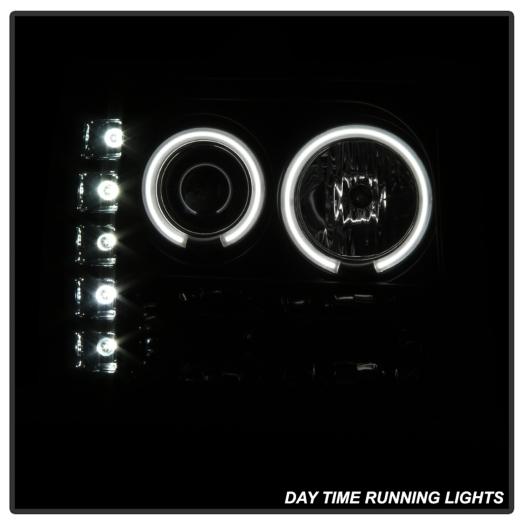 Spyder CCFL Halo LED Projector Headlights