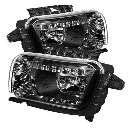 Spyder DRL LED Crystal Headlights