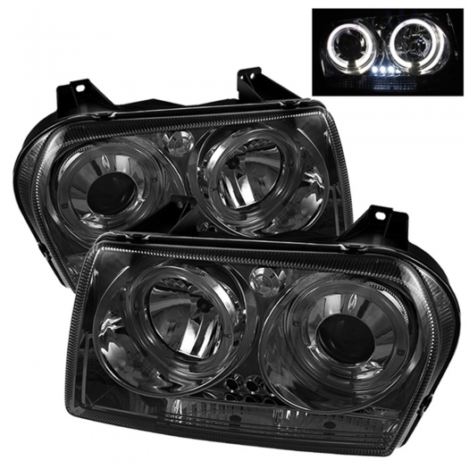 Spyder Dual Halo LED Projector Headlights