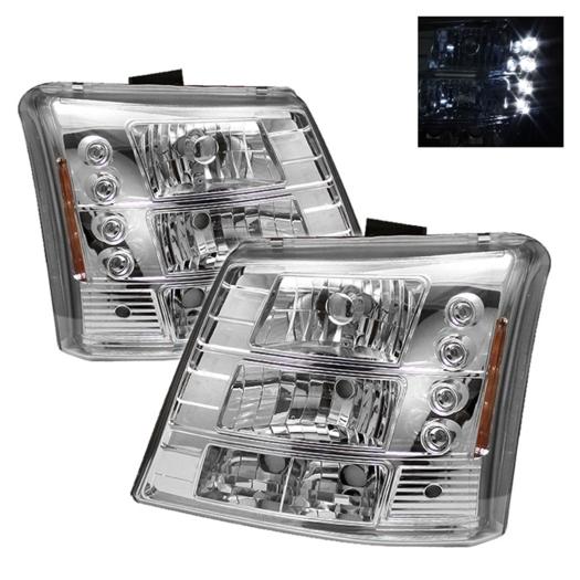 Spyder LED Crystal Headlights