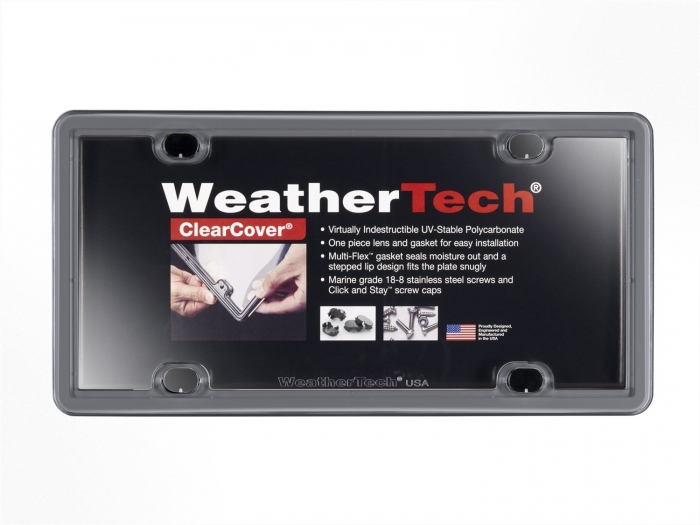 Beluga Gray - WeatherTech ClearCover License Plate Cover