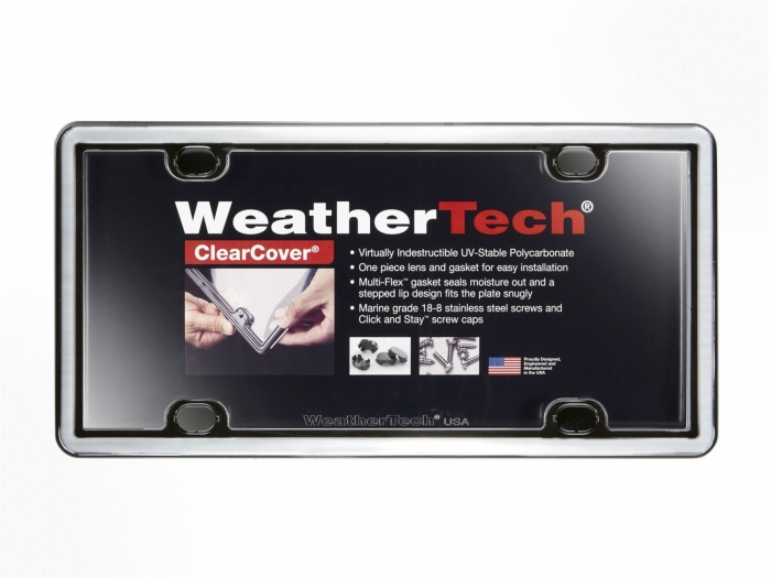 Chrome/Black - WeatherTech ClearCover License Plate Cover